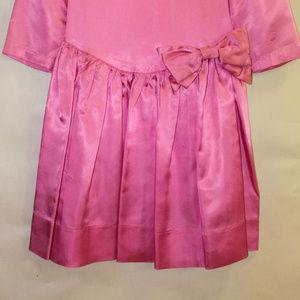 Handmade Dresses - Girl's Pink Satin Dress